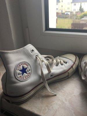 Converse weiß Leder