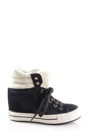 Converse Winter-Stiefeletten schwarz-wollweiß Casual-Look