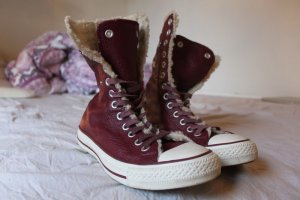 Converse Winter Boots purple imitation leather