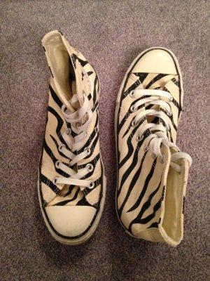 Converse Zebra Look Gr. 37,5 (5) Creme/Schwarz