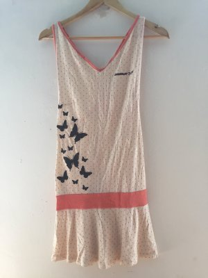 Beach Dress cream-salmon
