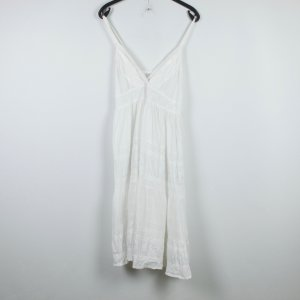 Pinafore dress white cotton