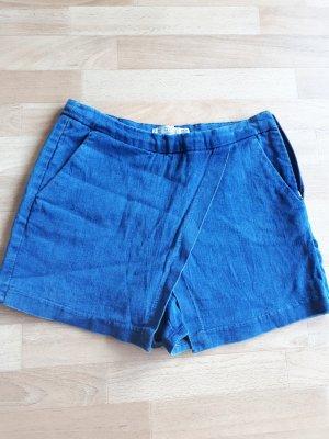 Zara Pantaloncino di jeans blu Cotone