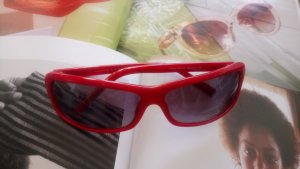 Cool Red Sonnenbrille Lackrot