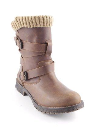 Cool Way Stivale a gamba corta marrone-sabbia stile casual