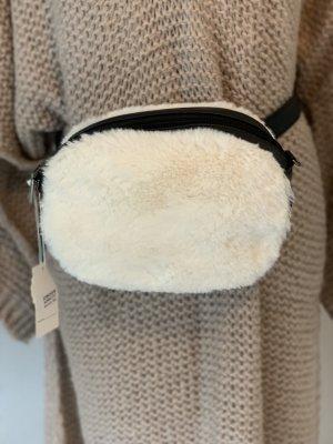 Marsupio bianco sporco-nero