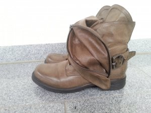 coole Biker-Boots Gr.38 taupe wie Airstep