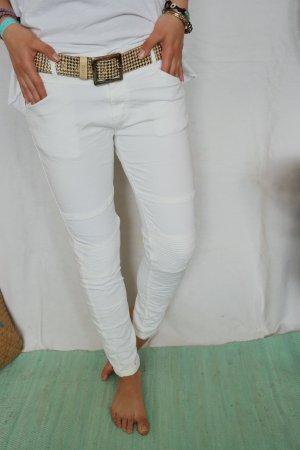 Coole Biker Jeans in weiss Gr.L