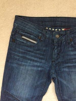 Jeans da motociclista blu scuro