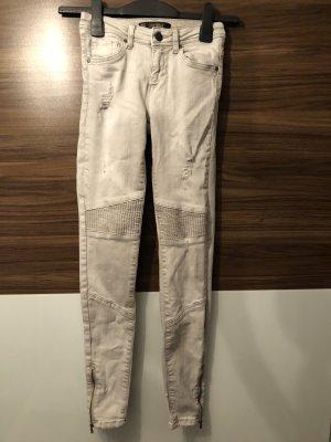 Zara Jeans de moto gris clair-gris