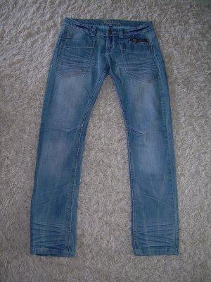 coole blaue Bootcut Jeans W32 Gr. 42 von Fishbone