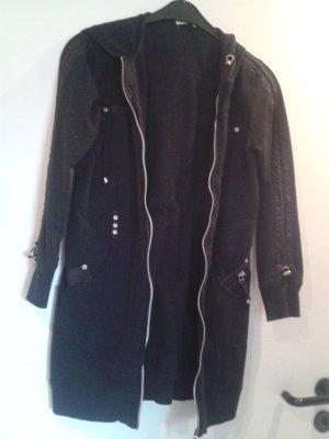 Cappotto in pile nero Cotone