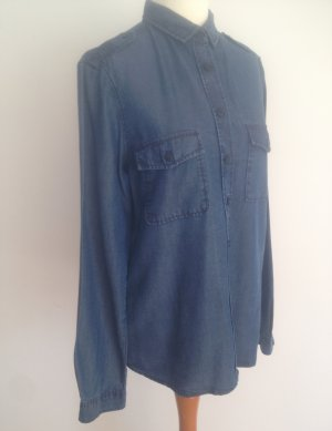 Coole Bluse in Denim-Optik - Jeanshemd von Massimo Dutti