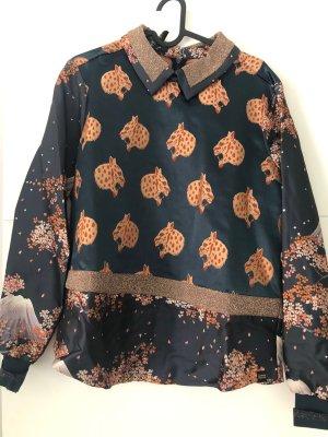 Maison Scotch Felpa kimono multicolore