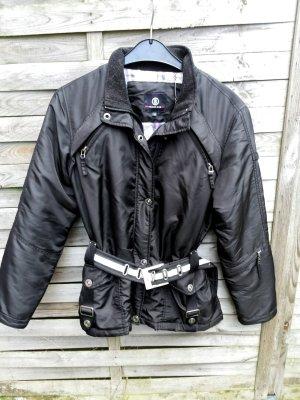 Coole Bogner Jacke Bikerjacke Schwarz Größe 36 38