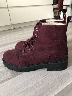 H&M Botas de nieve burdeos