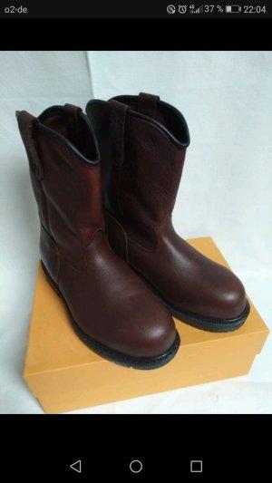 Red Wing Shoes Borceguíes marrón oscuro Cuero