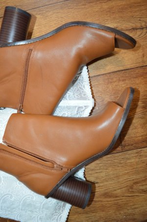 Coole braune H&M Peep Toe Stiefelette Gr. 40