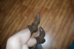 Coole braune Stiefel Used Look Gr.41 LavorazioneArtigiana