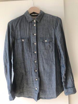 Coole Closed Bluse aus blauer Baumwolle