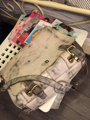 Coole Collegetasche in weißem Leder