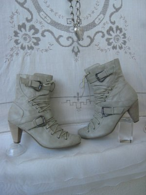 Andrea Conti Lace-up Booties silver-colored-light grey