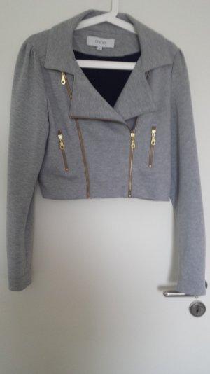 Coole Crop Jacke von SNOB in Gr. 40 Grau mit Gold