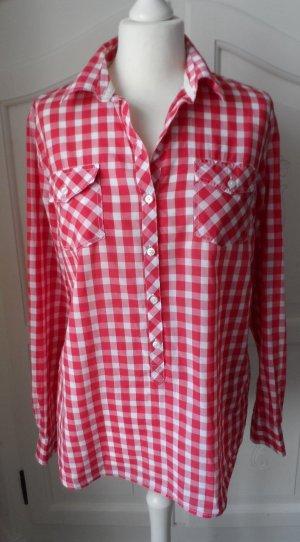 coole DEEWHY Karo Bluse / Tunika Gr. 40 Rot Weiß kariert wenig getragen
