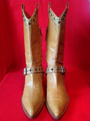 Pollini Desert Boots camel leather