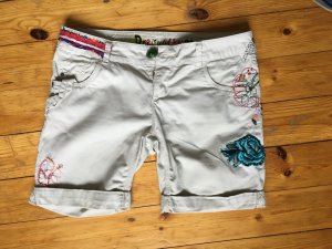 Desigual Short Trousers oatmeal mixture fibre