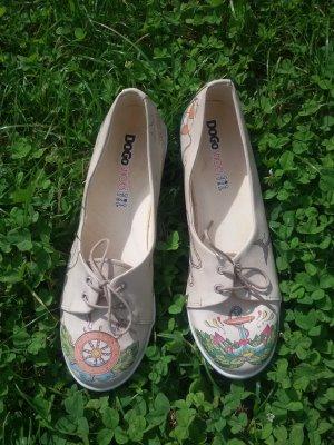 DOGO Zapatos formales sin cordones crema