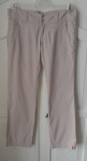 Esprit Pantalon en lin rose clair tissu mixte