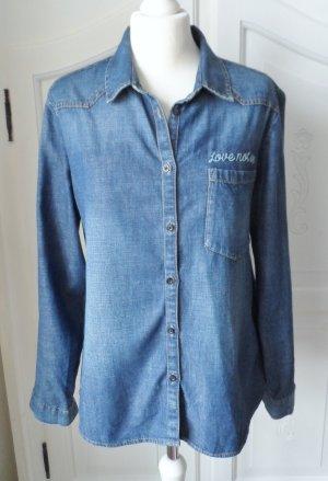 Esprit Jeans blouse donkerblauw Katoen