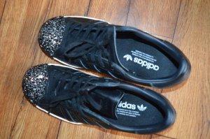Adidas Zapatilla brogue negro-color plata