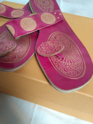 coole Flip Flop echt Leder orientalisch!
