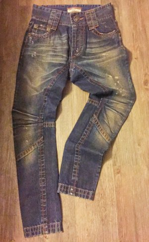 Coole Galliano Baggy Jeans, dunkle Waschung