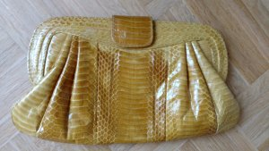 Angel of Style Clutch dark yellow leather