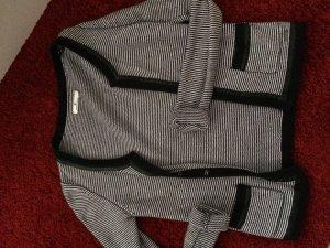 Tom Tailor Cardigan a maglia grossa nero-bianco