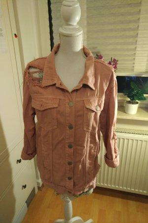Glamorous Veste oversize vieux rose-rose coton