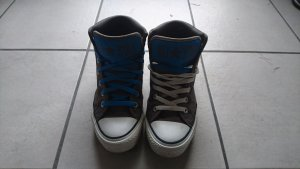 Coole grau/blaue Converse in Größe 39