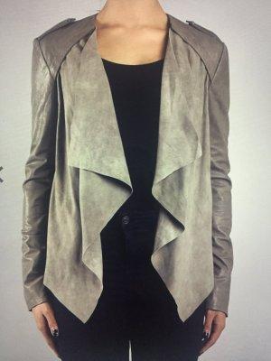 Coole graue Lederjacke Jacke Leder wie neu von Muubaa Modell Lupus Gr. 38