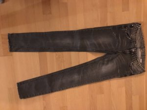 H&M Carrot Jeans grey cotton