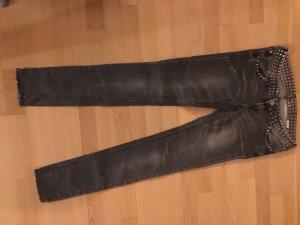 H&M Jeans carotte gris coton