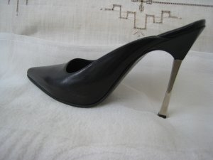 Gucci High Heels black-silver-colored leather