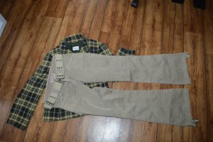 Coole GUESS Jeans strechig in beige Gr. XS mit Gürtel