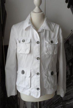 coole H&M L.O.G.G. Jacke Gr. 40 weiß wenig getragen
