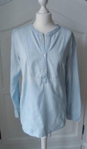 coole H&M L.O.G.G. Jeans Tunika / Bluse Gr. 42 hellblau 2 x getragen