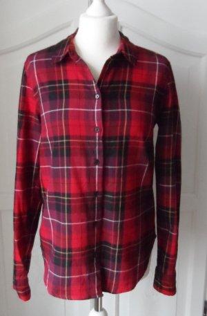 coole H&M L.O.G.G. Karo Bluse Gr. 38 Rot kariert wenig getragen