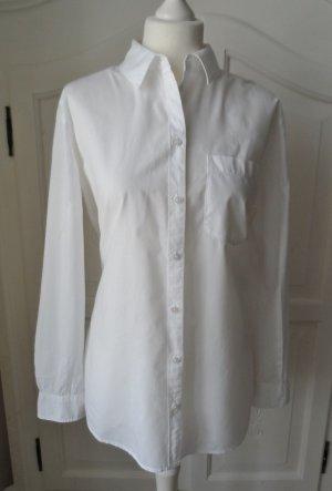 coole H&M L.O.G.G. Long Bluse Gr. 40 Weiß wenig getragen