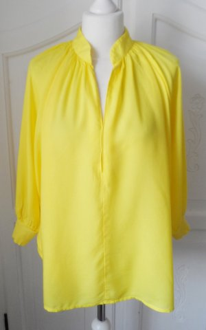 H&M Oversized blouse geel Modal